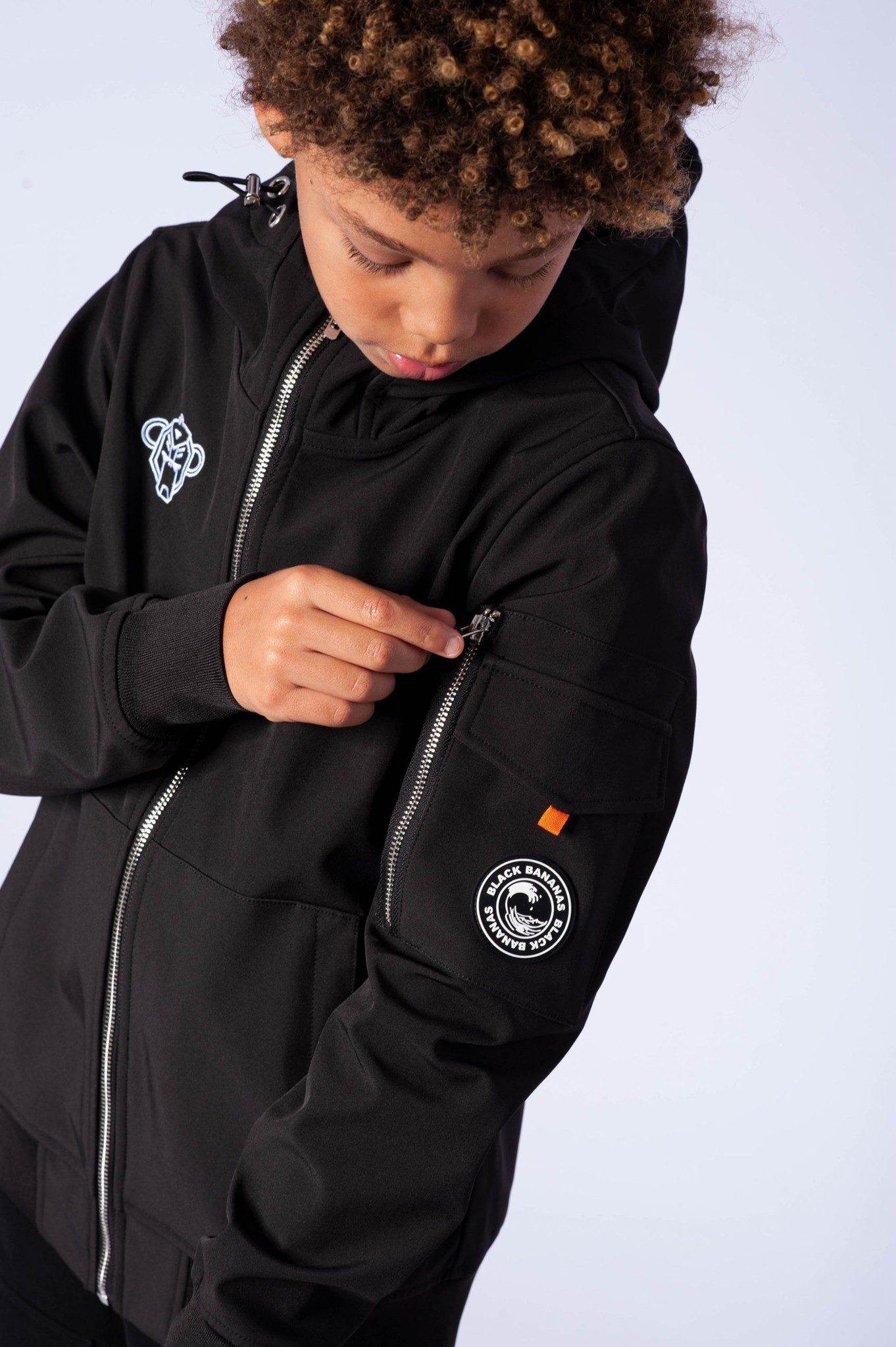 Jr. Softshell Jacket Zwart-3