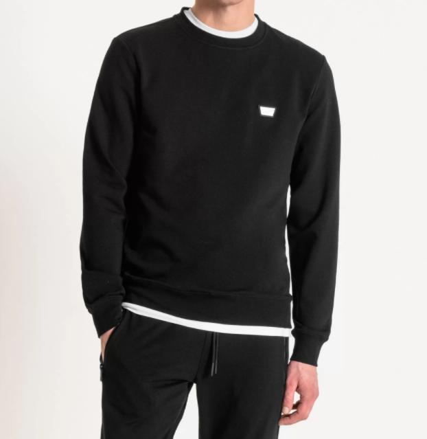 Antony Morato sweater black met logo-2