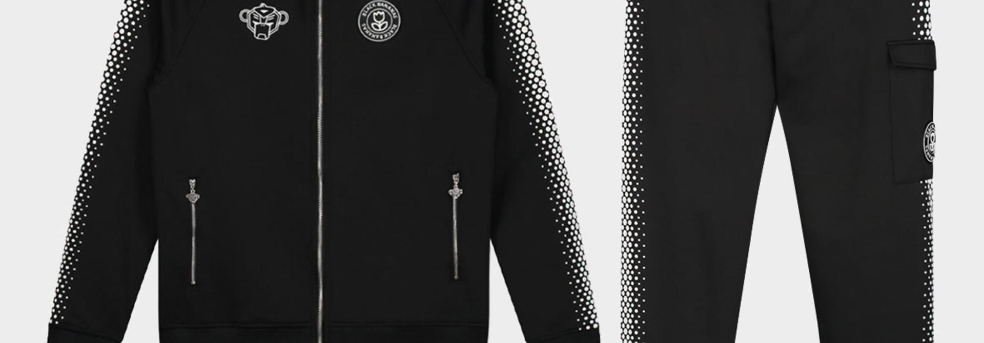 Hexagon Tracksuit Black/White
