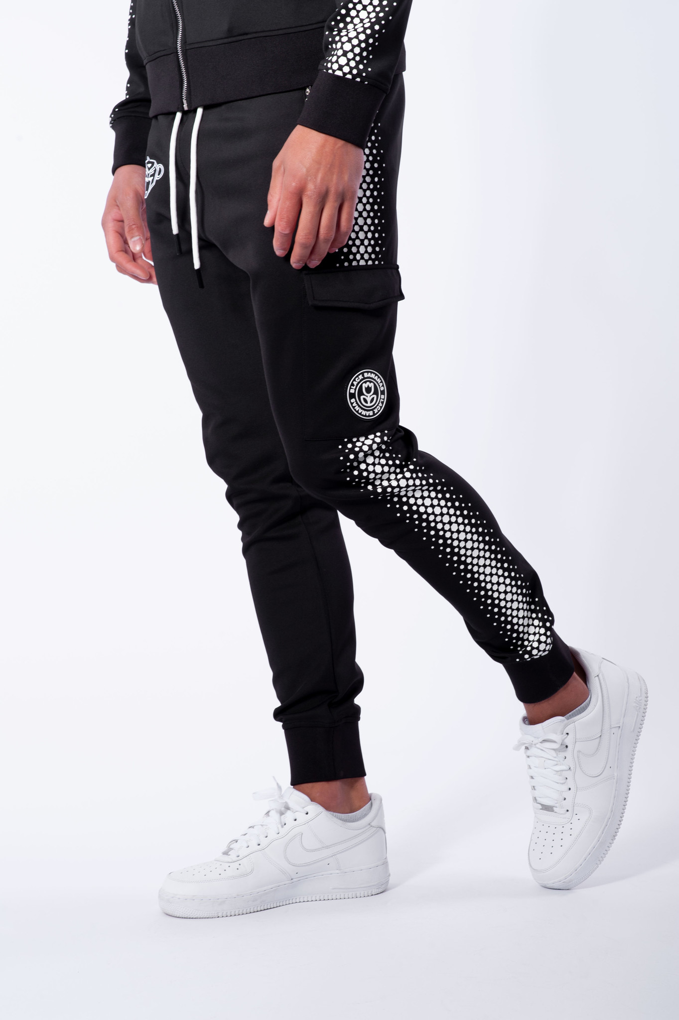 Hexagon Tracksuit Black/White-4