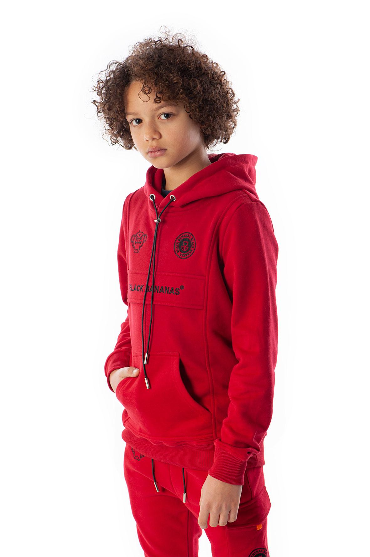 Jr Anorak Kangaroo Tracksuit Red-3