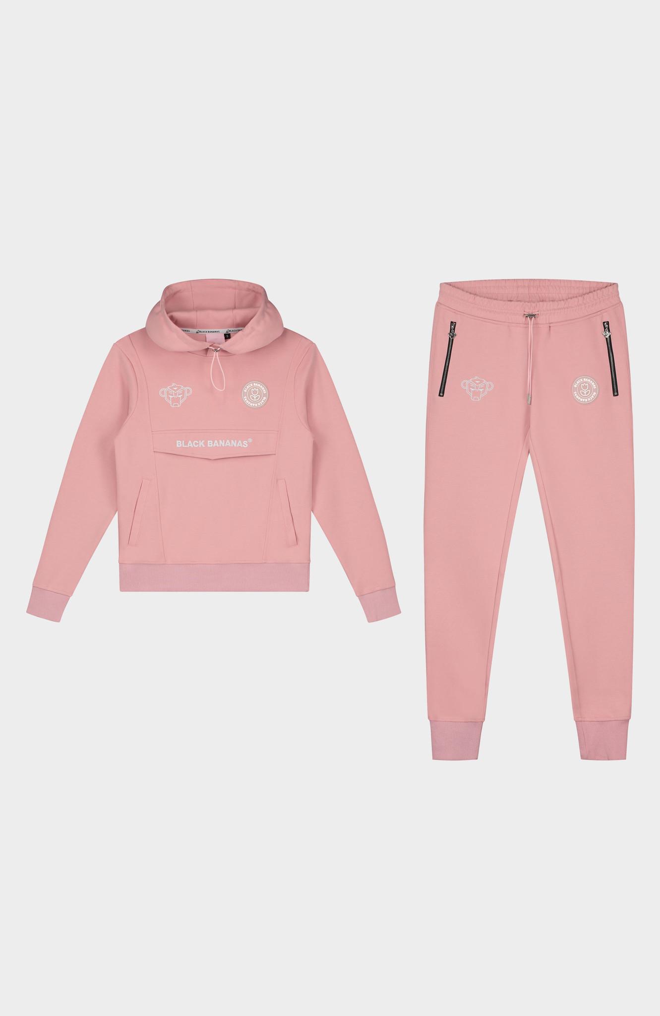 Jr. Girls Anorak Tracksuit Pink-1