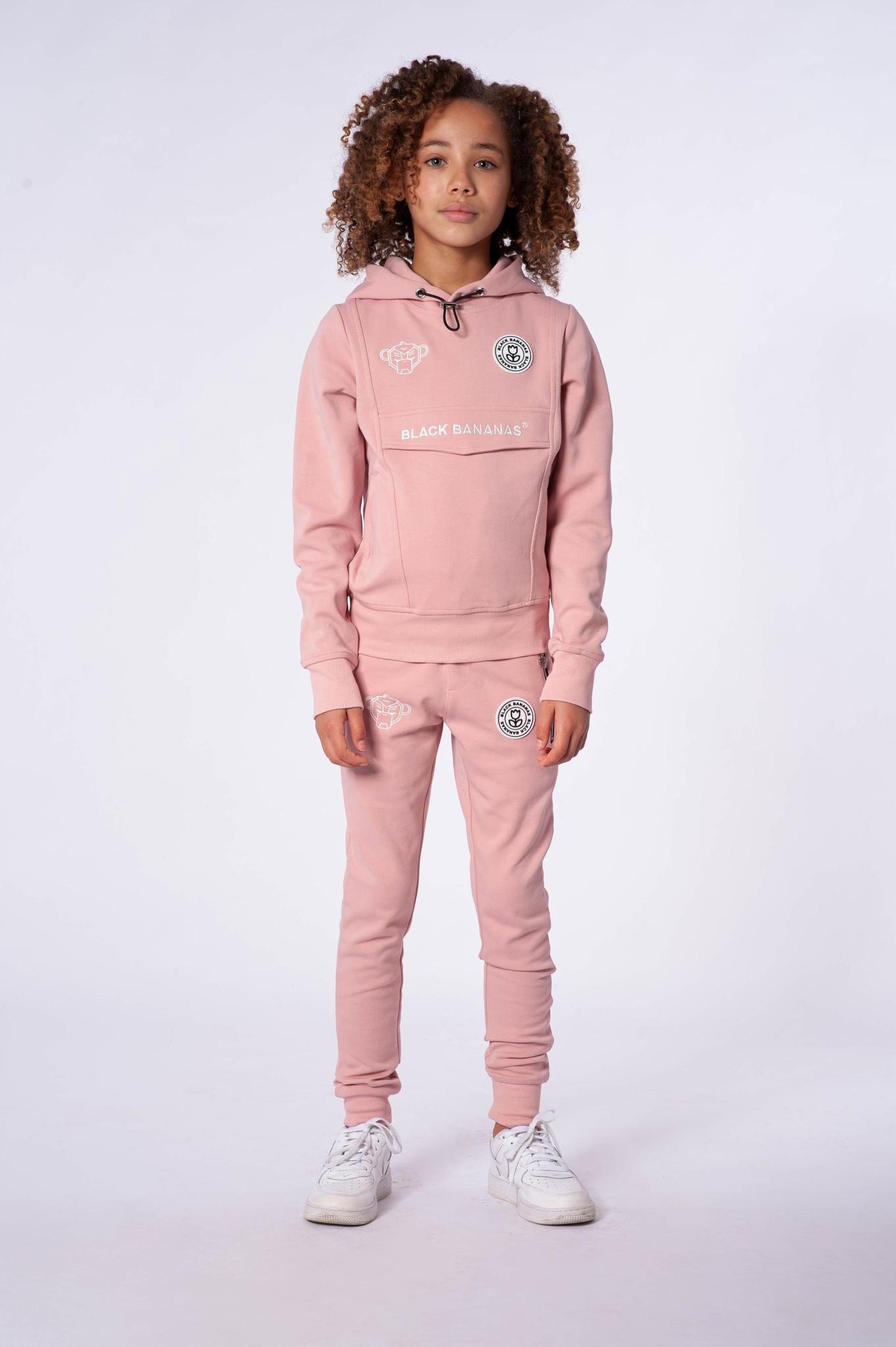 Jr. Girls Anorak Tracksuit Pink-5