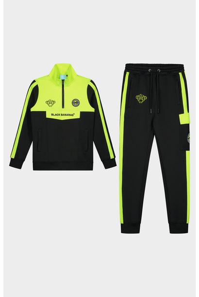 Jr. Anorak Sprint Tracksuit Neon Yellow