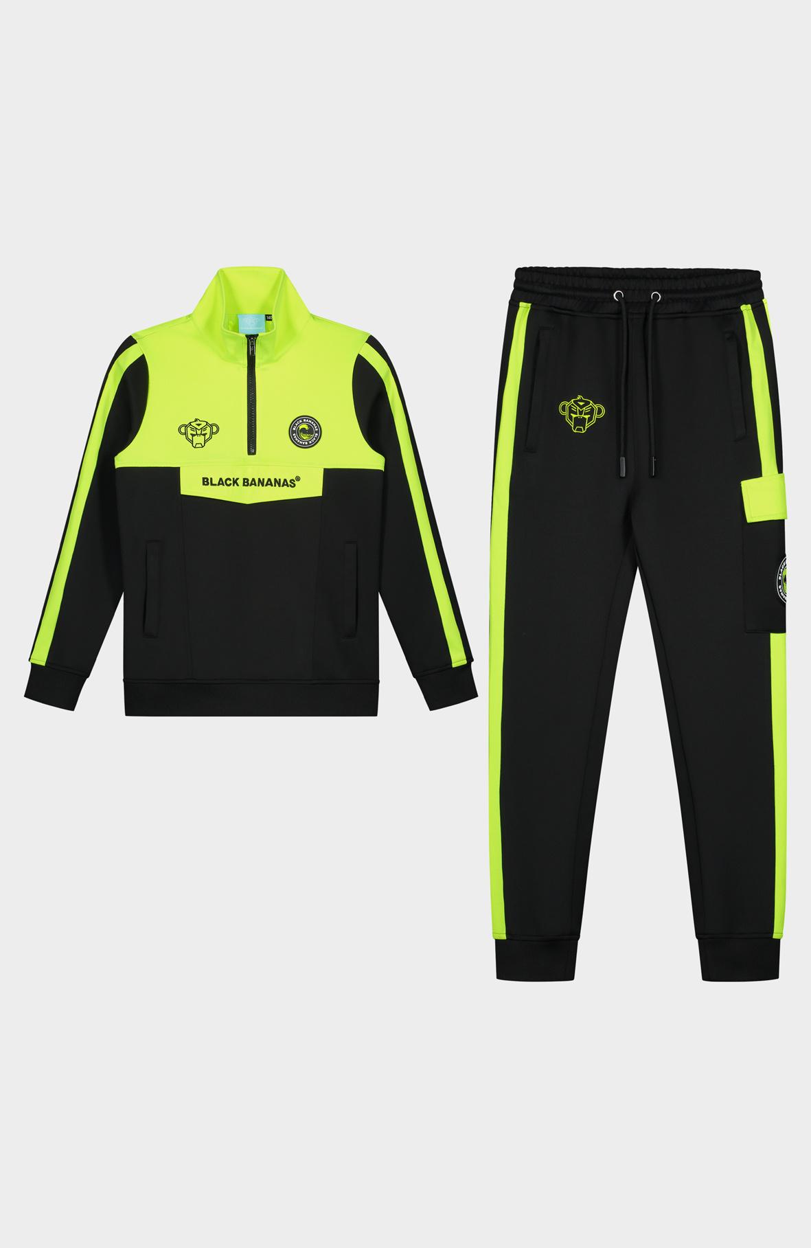 Jr. Anorak Sprint Tracksuit Neon Yellow-1