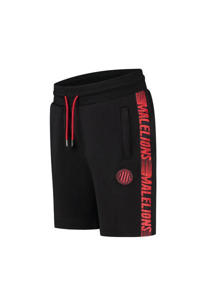 Malelions Sport Strike Short Black-Neon Red