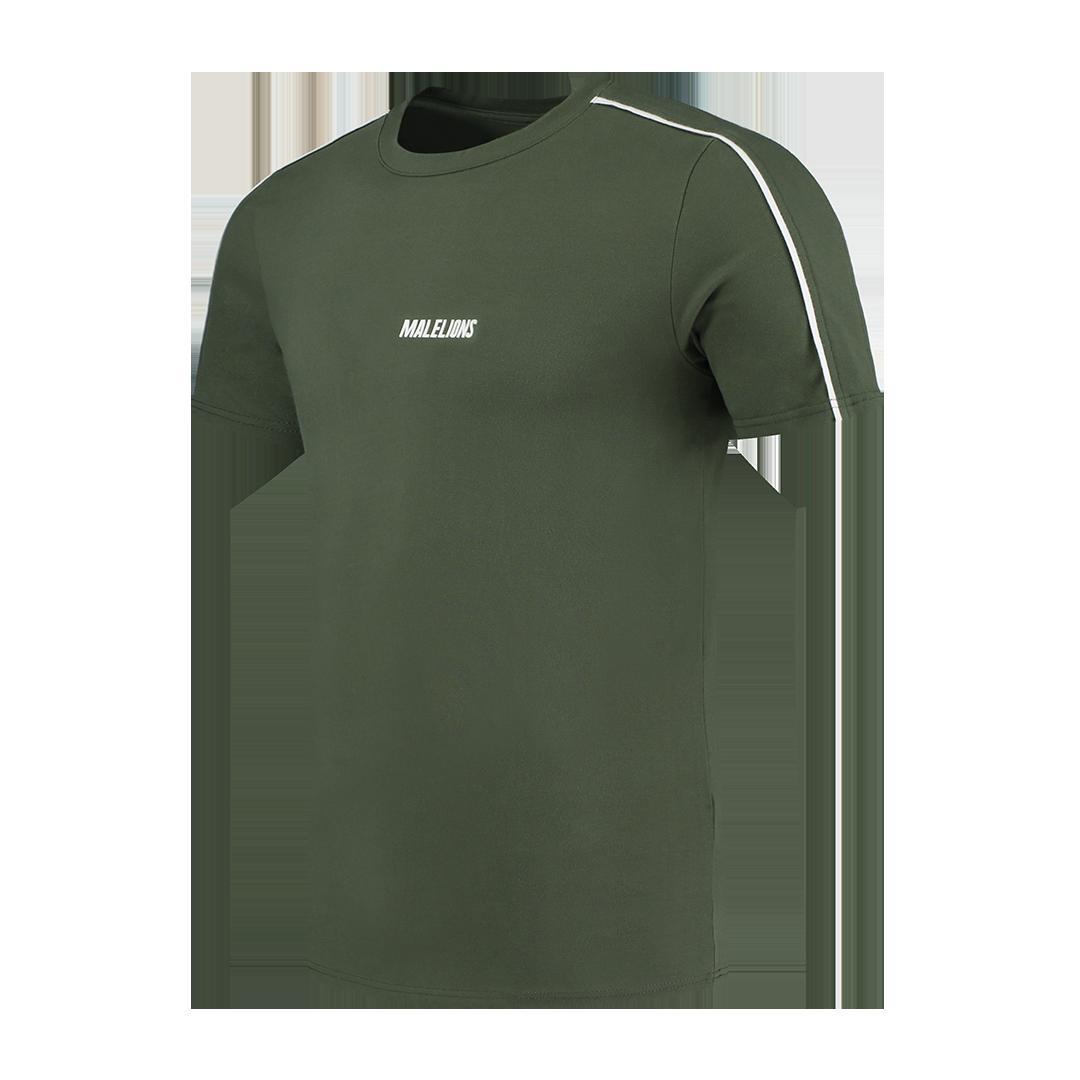 Malelions Sport Coach T-shirt Army White-1