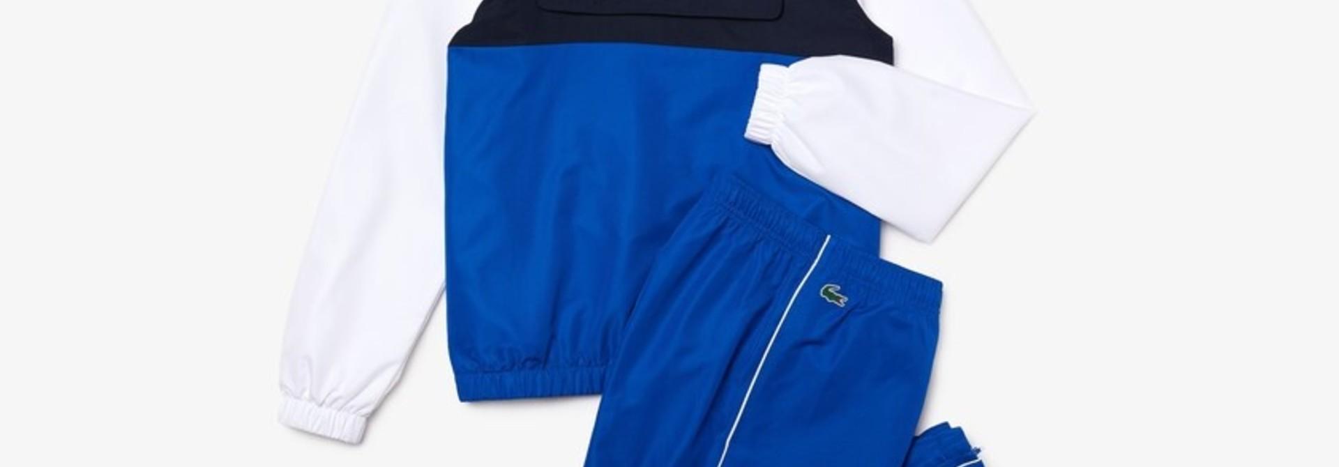 Lacoste sport trainingspak heren Blue/white