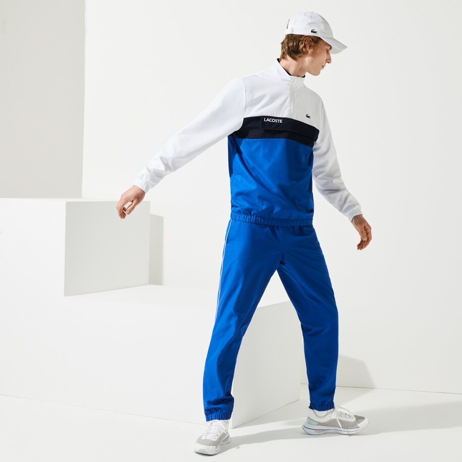 Lacoste sport trainingspak heren Blue/white-6
