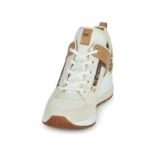 Michael Kors / Georgie Trainer Canvas Cream Multi-3
