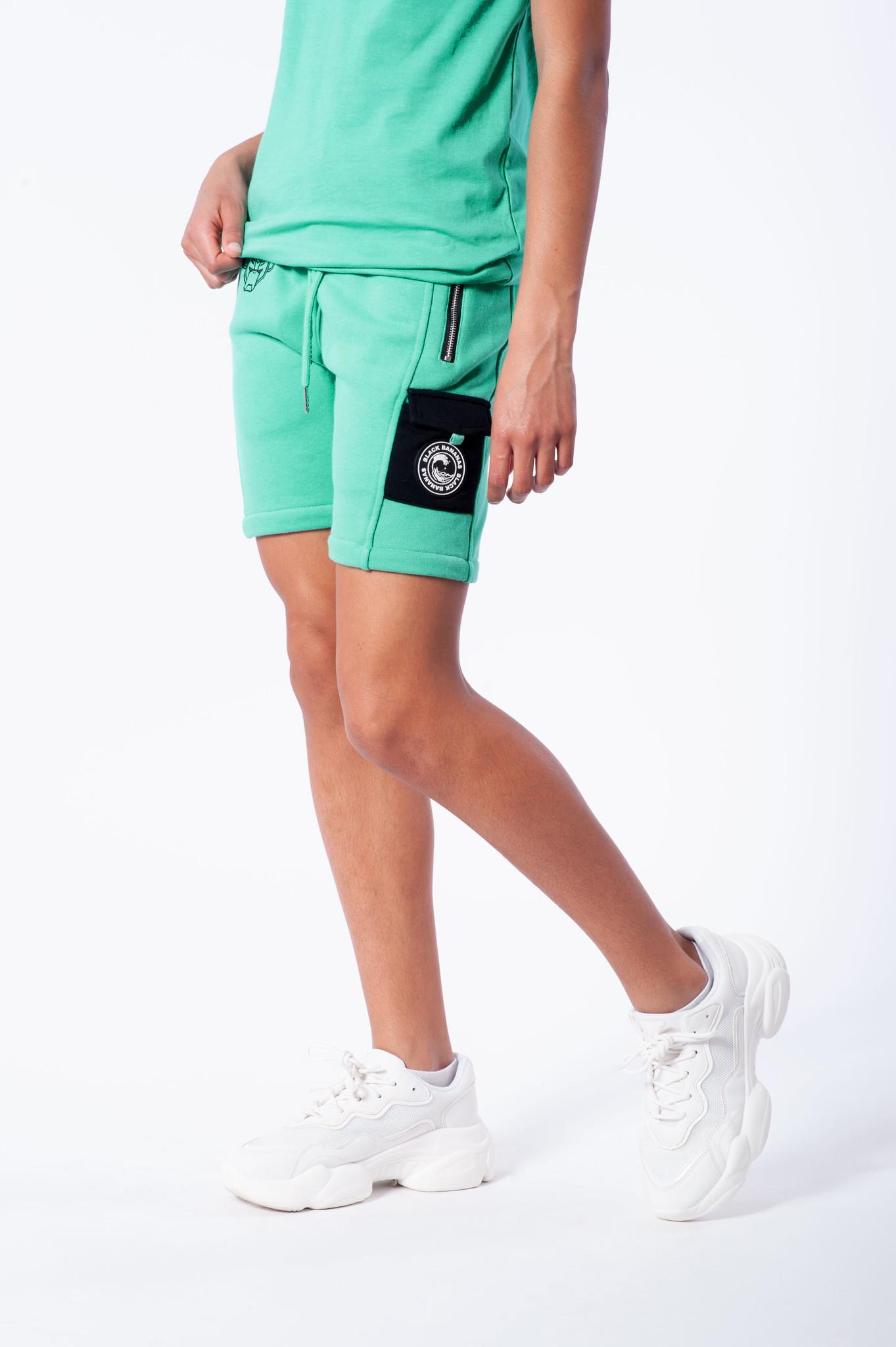 Jr. Contrast Pocket Short Aqua-2