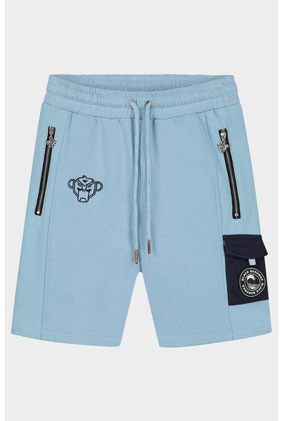 Jr Contrast Pocket Short Light Blue