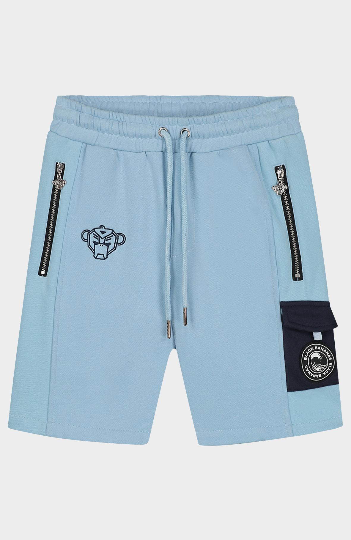 Jr Contrast Pocket Short Light Blue-1