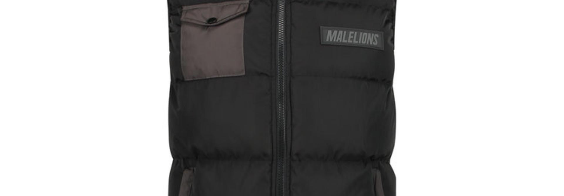 Malelions pocket bodywarmer Black/Antra