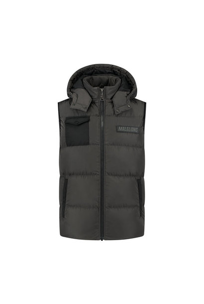 Malelions pocket bodywarmer Antra/Black