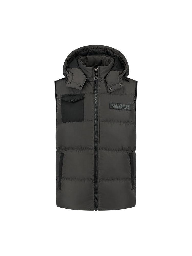 Malelions pocket bodywarmer Antra/Black-1
