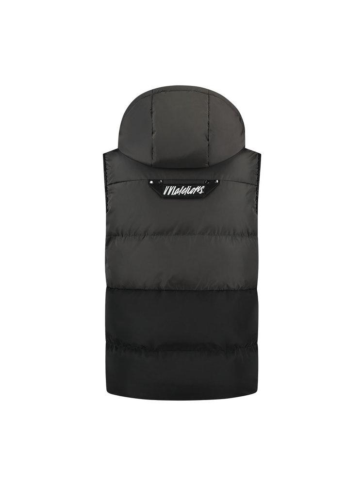Malelions pocket bodywarmer Antra/Black-2