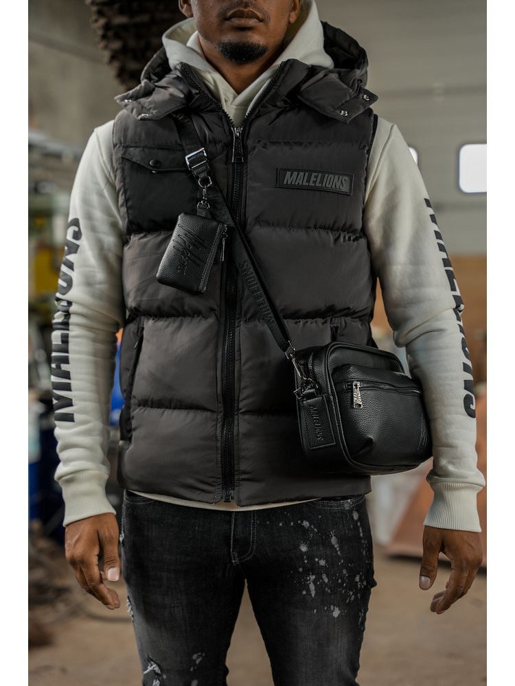 Malelions pocket bodywarmer Black/Antra-3