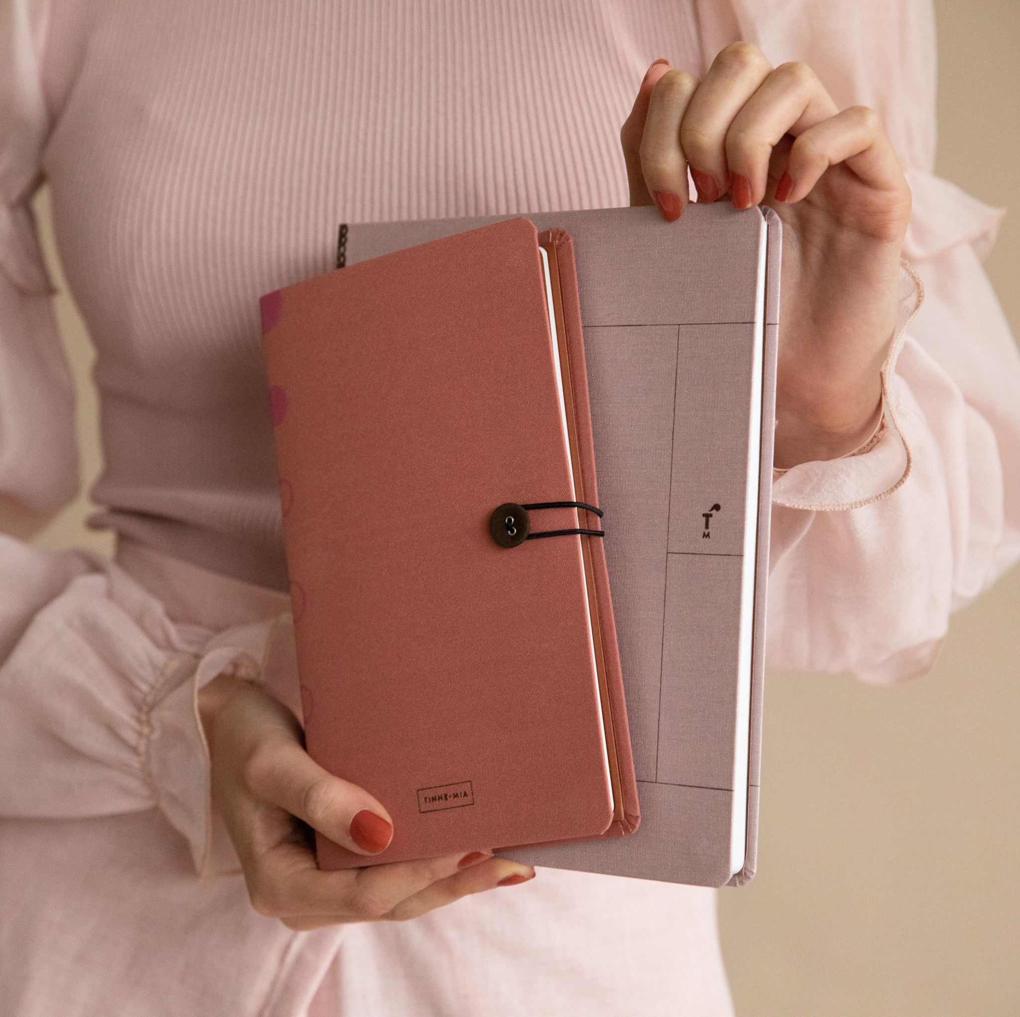 Notebook A5 - Rose Pale (5 stuks)-3