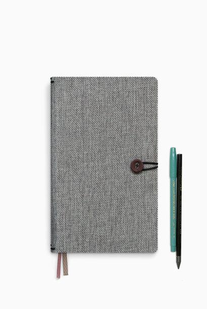 Notebook button - Moss Agate (5pcs.)