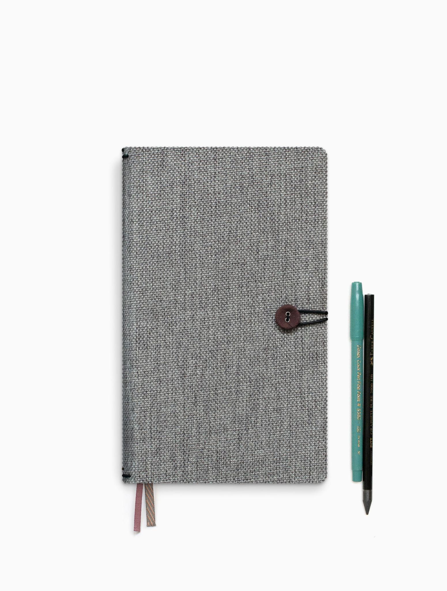 Notebook met knoop - Moss Agate-1