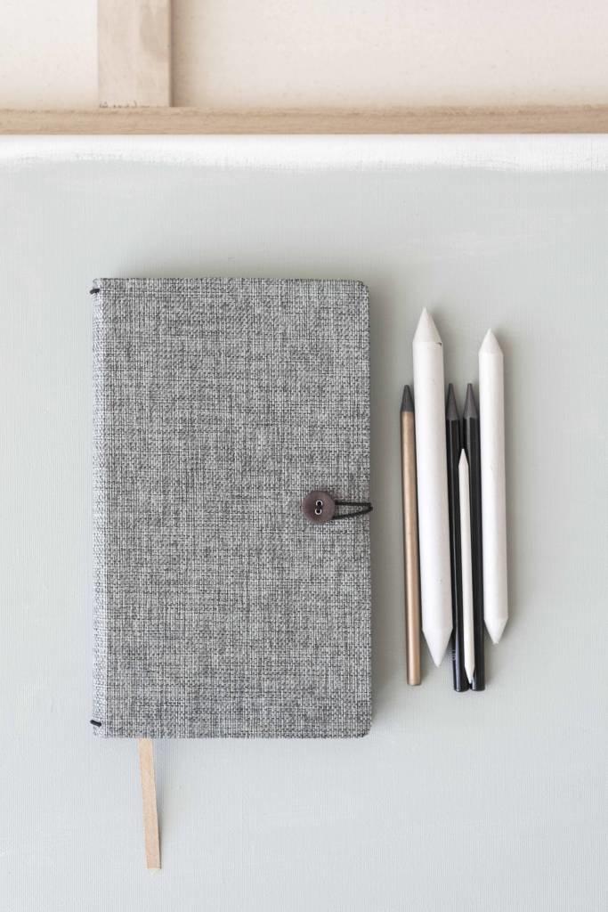 Notebook met knoop - Moss Agate-2