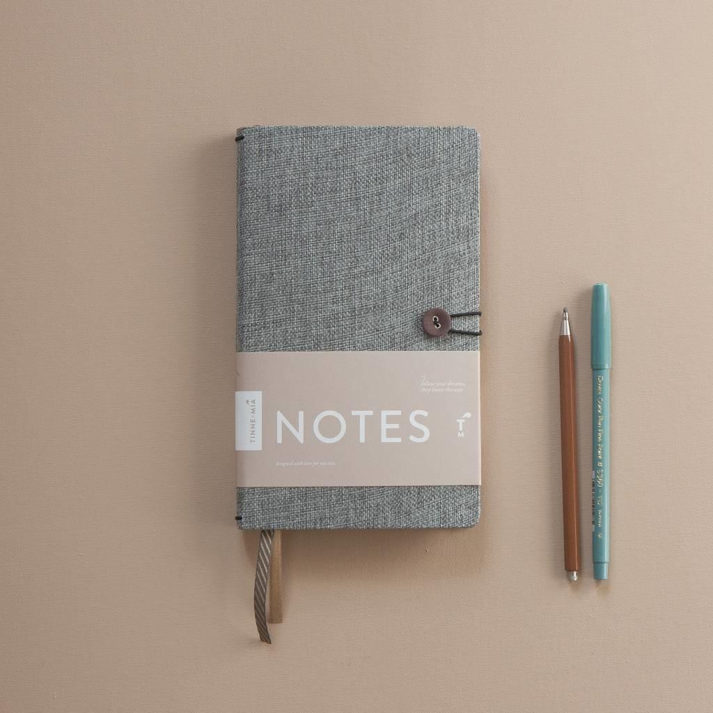 Notebook met knoop - Moss Agate-4