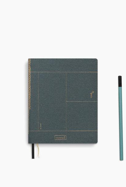 Notebook A6 - Forrest Green (5 stuks)