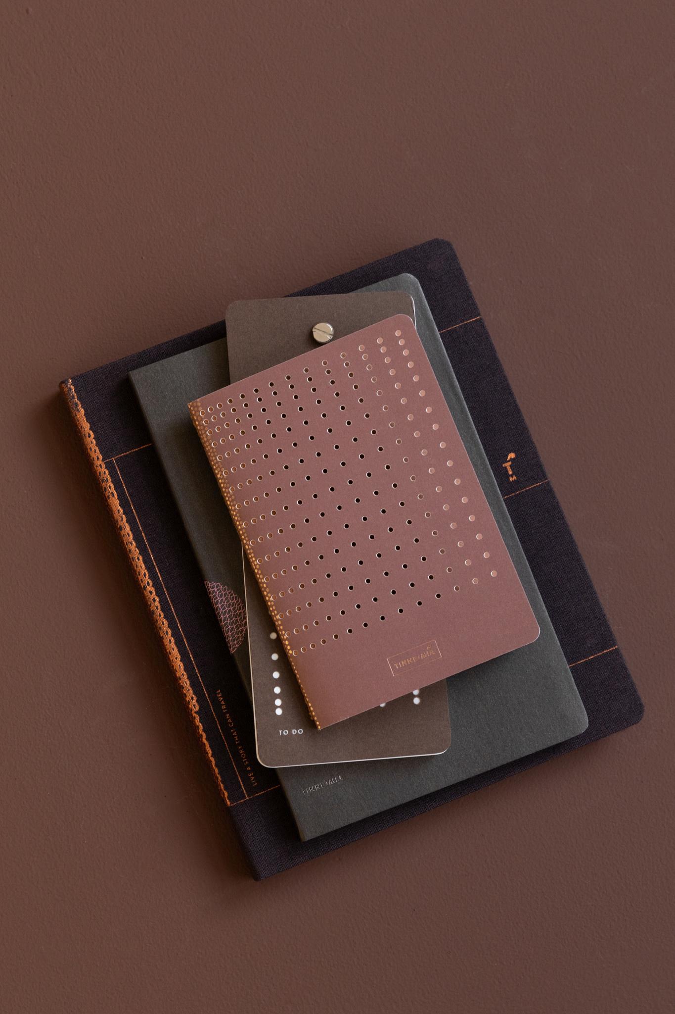 Note Booklet - gridded burgundy (10pcs.)-3