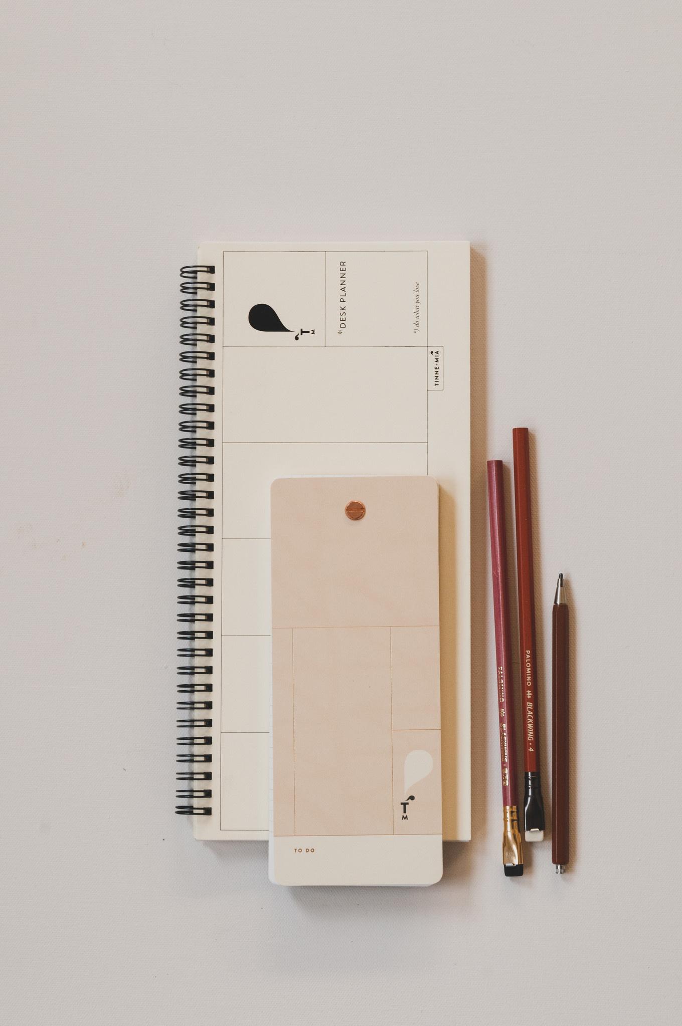 Desk Planner - Jaune doux (5pcs.)-2