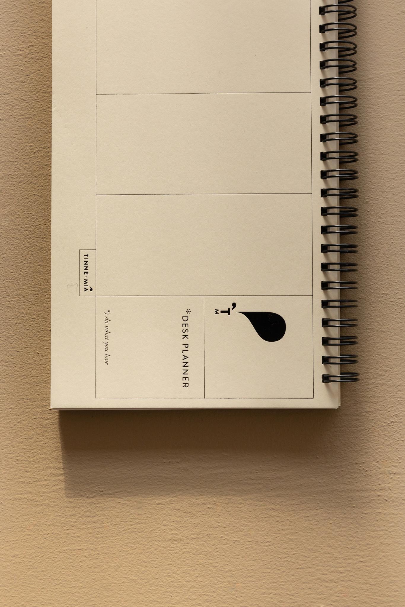 Desk Planner - Jaune doux (5pcs.)-3