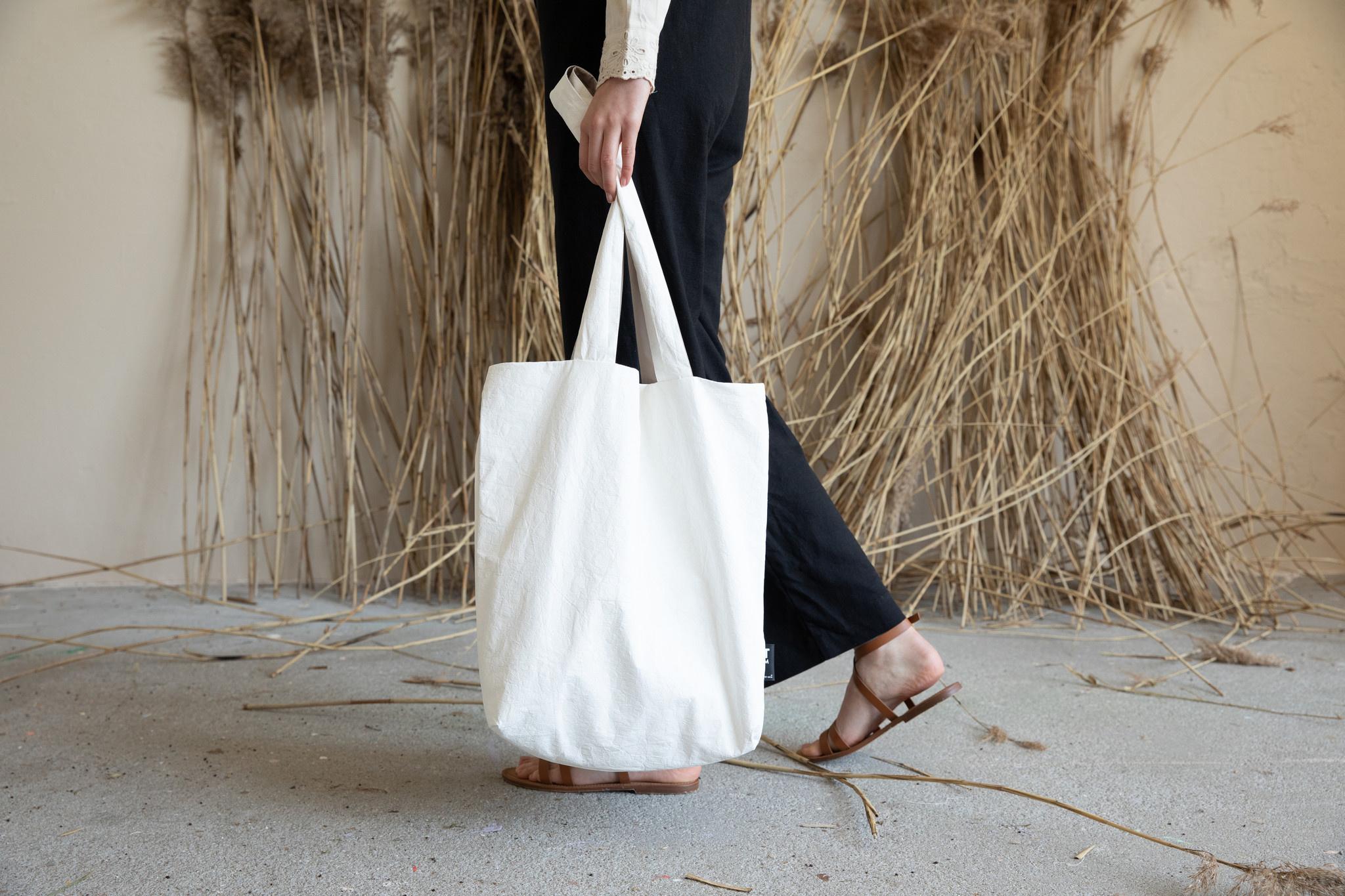 F.G. Tote Bag Tyvek - Off white (4 pcs.)-1