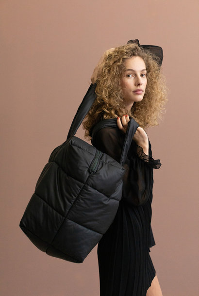 Camill Big Puffy Weekend Bag - Black (2 stuks)
