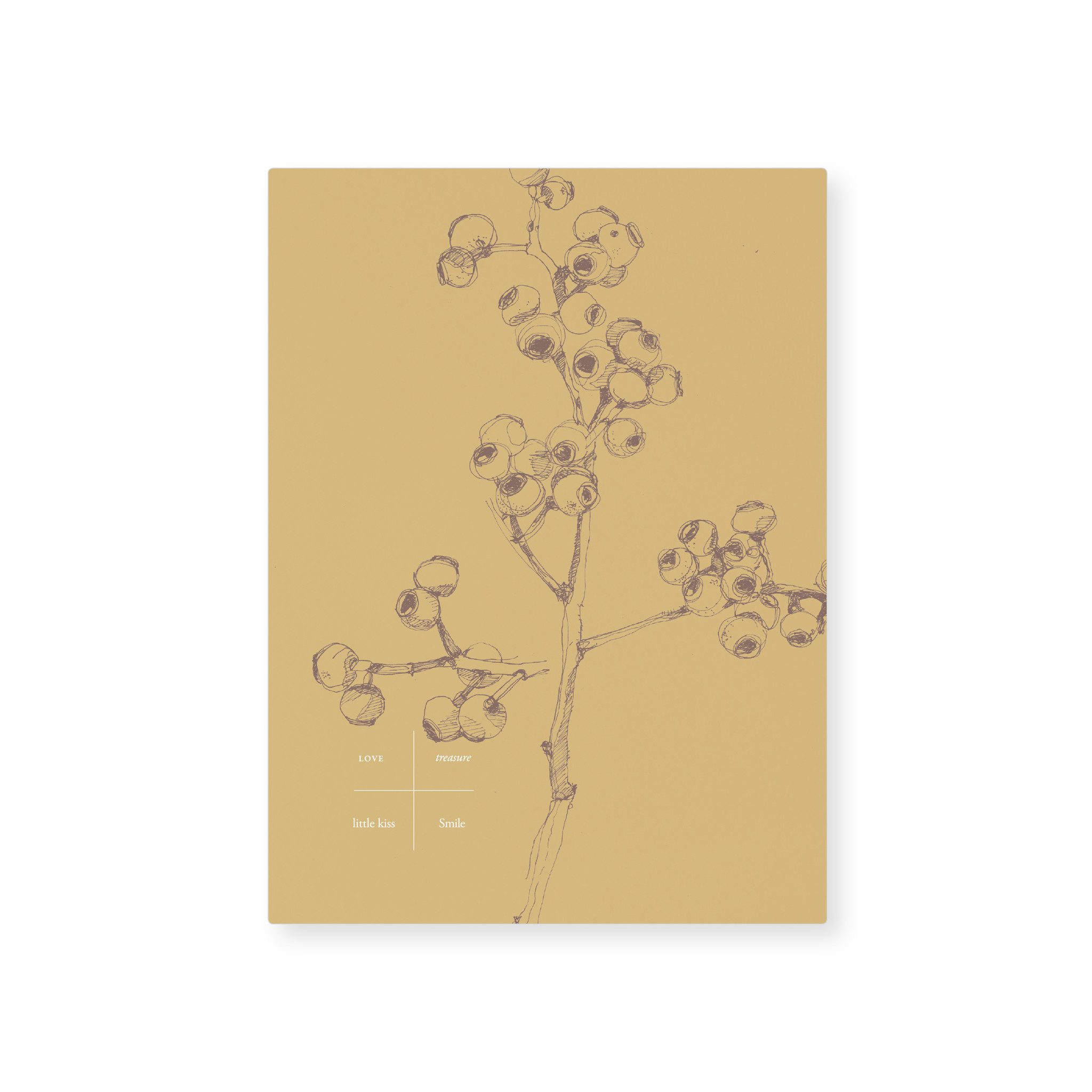 Card - Yellow berry (5 pcs.)-1