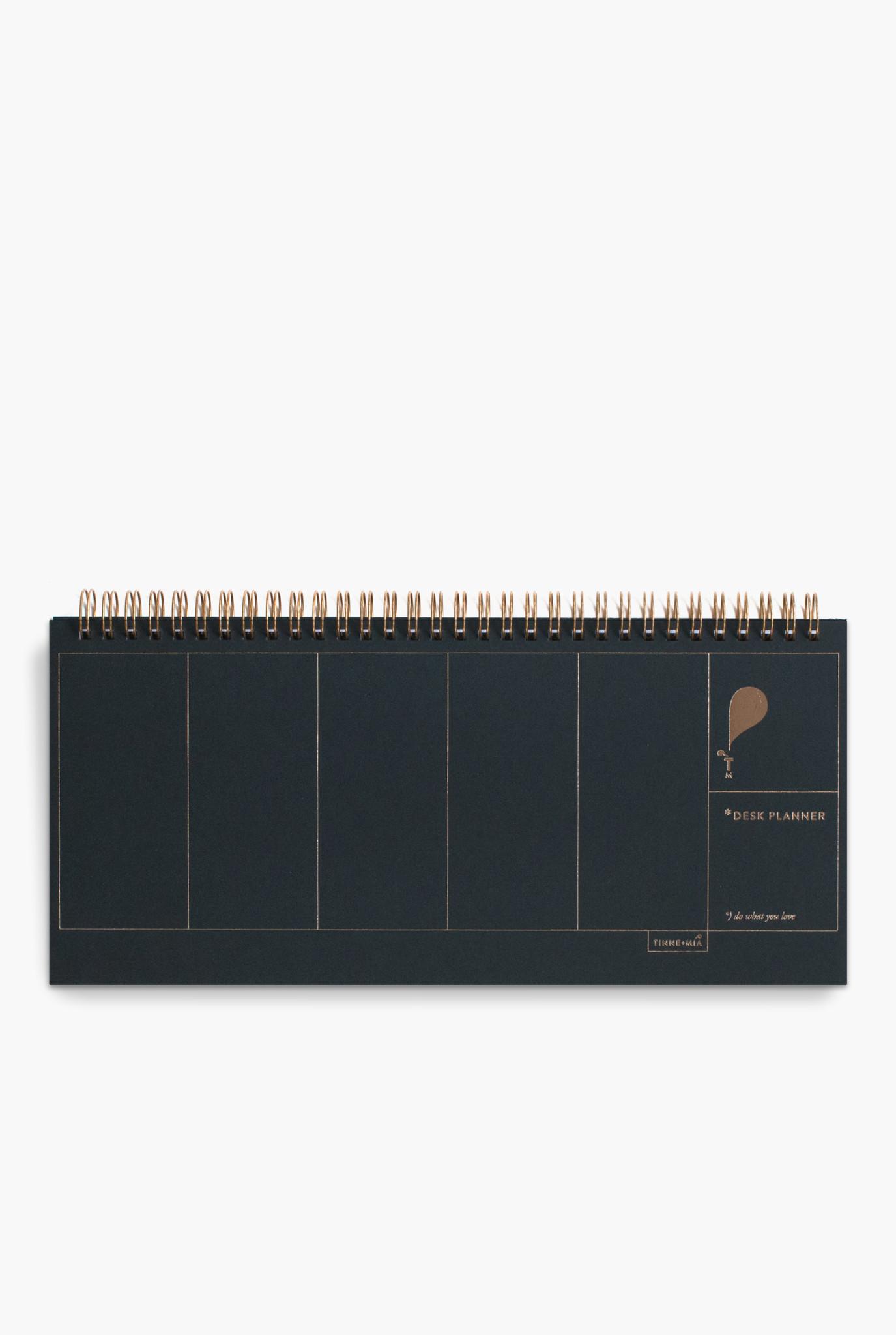 Desk Planner - Noir (5 stuks)-1