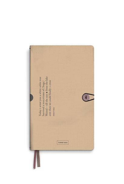 Notitieboek met knoop - Almond (5 stuks)