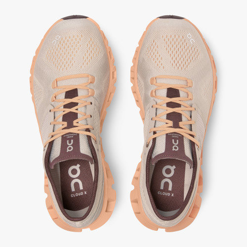 ON RUNNING On-running Dames hardloopschoen Cloud X Silver/almond 40.99699