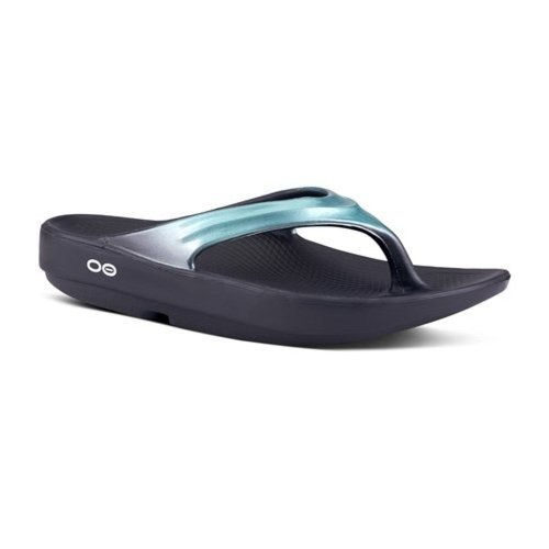 OOFOS Oofos slipper Oolala metallic mint