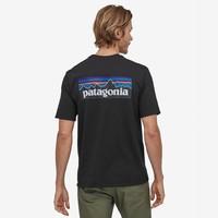 Patagonia T-shirt p-6  logo km heren 38504-BLK