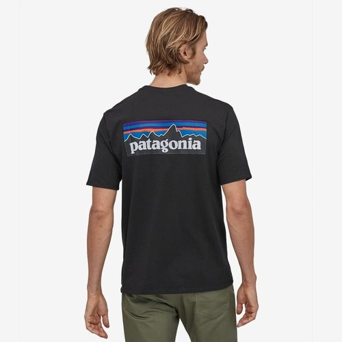PATAGONIA Patagonia T-shirt p-6  logo km heren 38504-BLK