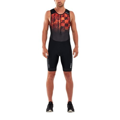 2XU Trisuit Perform front zip heren MT5526D BLKFOM