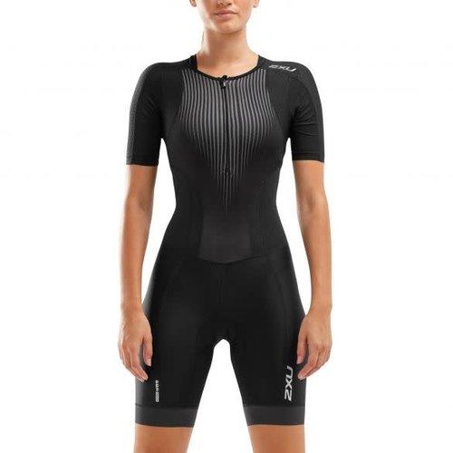 2XU Trisuit Perform sleeved dames WT6060D BLKSDW
