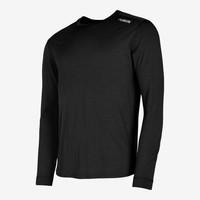 Fusion Runningshirt Heren LS  Merino 0184 Zwart