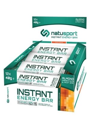 Natusport  instant bar almond fresh orange box