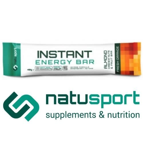 Natusport instant bar almond fresh orange