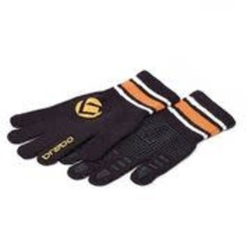 BRABO Brabo handschoen winter glove  zwart oranje