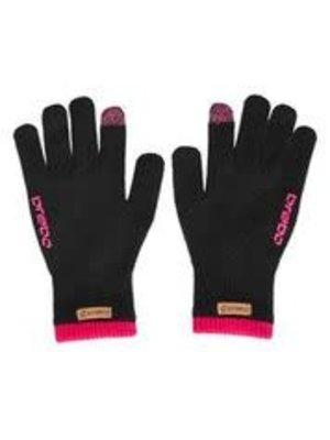 BRABO Brabo handschoen winter glove  zwart roze