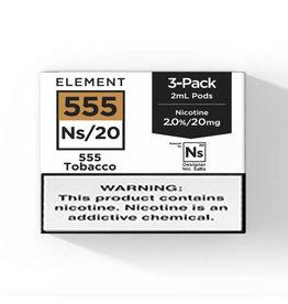 Element - 555 Tobacco - NS20 POD 3 x 2ML 20MG