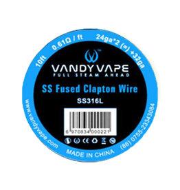 Vandy Vape - SS316 Fused Clapton 24ga*2(=)+32ga 10ft