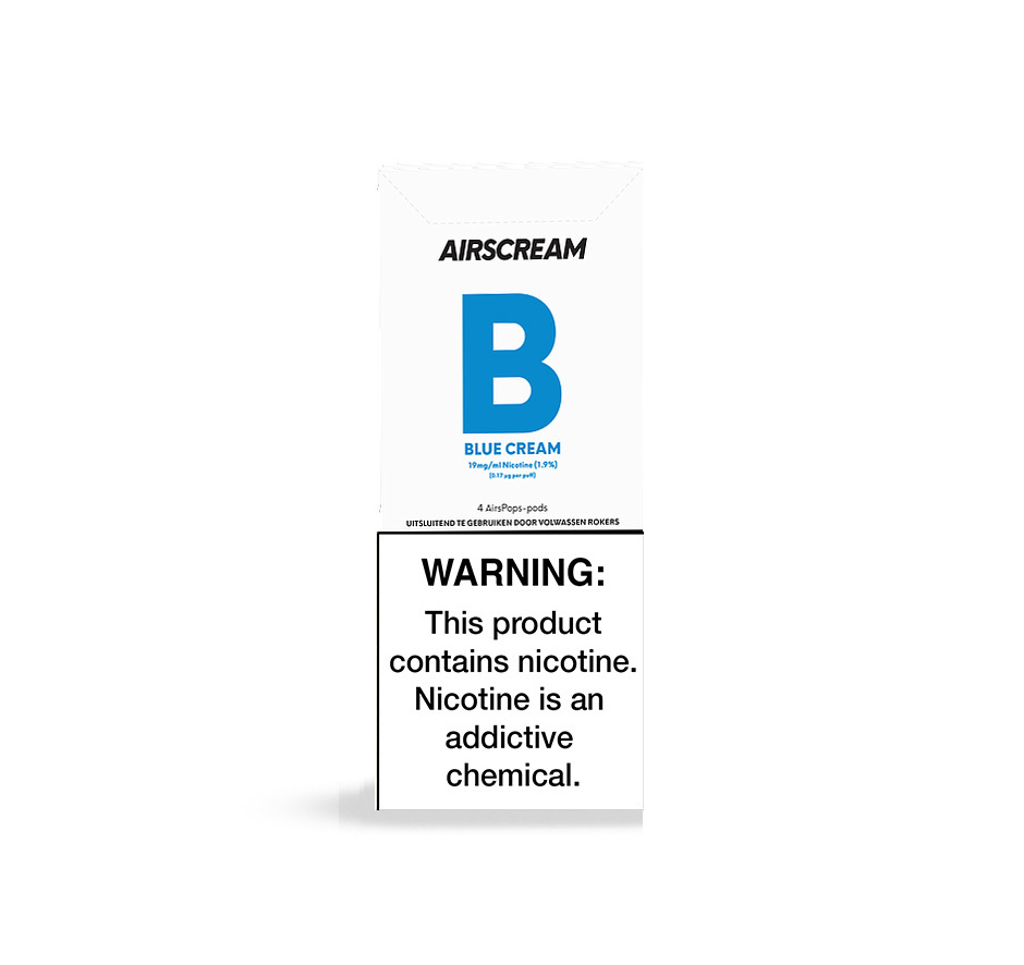 Airscream - AirsPops Blue Cream - 4 Stück